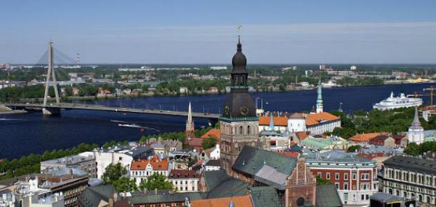 أين توجد لاتفيا