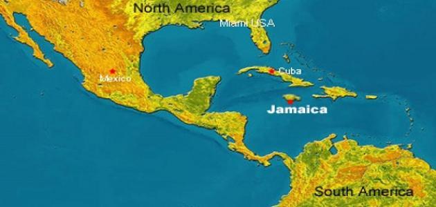 أين تقع جامايكا على الخريطة