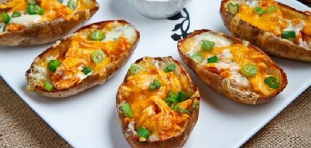 طريقة عمل قوارب البطاطس بالبشاميل