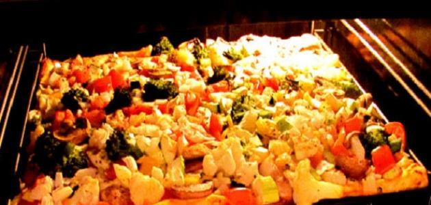 طريقة عمل البيتزا في الفرن الكهربائي