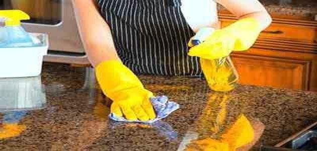طريقة تلميع رخام المطبخ