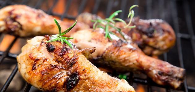 طريقة عمل دجاج مشوي على الفحم