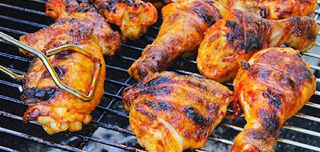 طريقة تحضير الدجاج للشوي على الفحم
