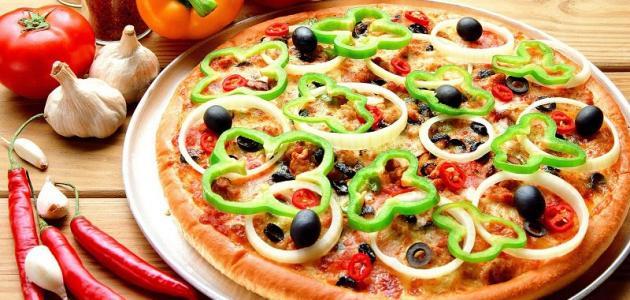 طريقة عمل البيتزا بدون جبنة الموزاريلا