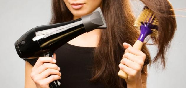طريقة سشوار الشعر بالبيت