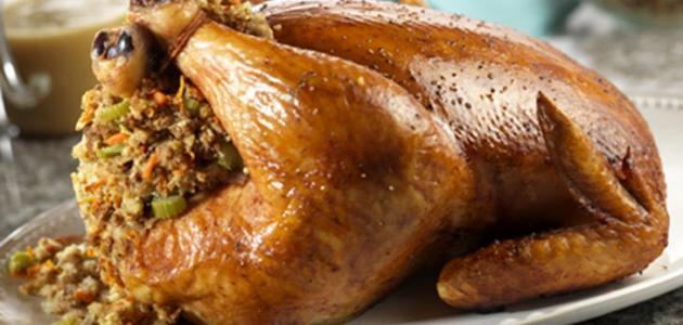 الدجاج المحشى بالارز على طريقة اشهر المطاعم Delicious stuffed Chicken