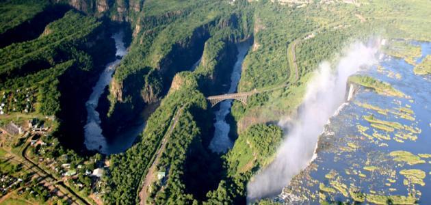 أين يقع نهر زامبيزي