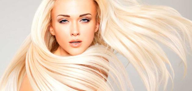 طريقة صبغ الشعر لون بلاتيني