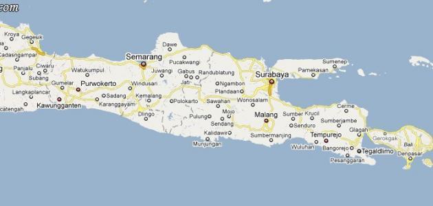 أين تقع جزيرة جاوة