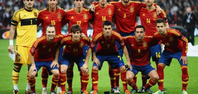 تشكيلة المنتخب الاسباني 2012