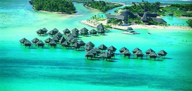 أين توجد جزر بورا بورا