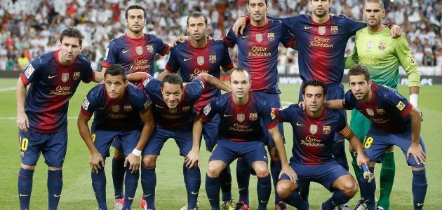 تشكيلة برشلونة 2013