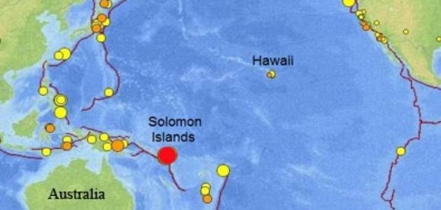 أين تقع جزر سليمان على الخريطة