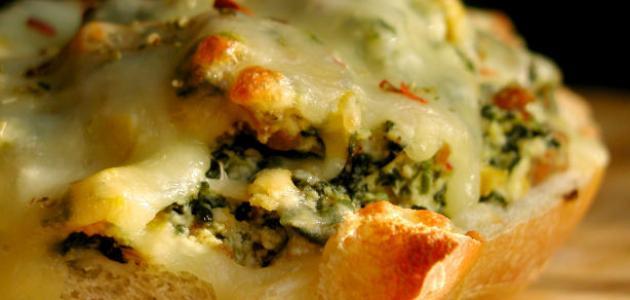 طريقة عمل خبز بالثوم والجبنة