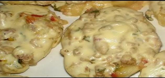 طريقة عمل دجاج بالقشطة والجبن