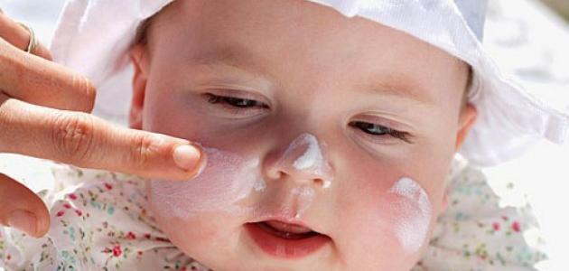 طريقة تبييض بشرة الأطفال