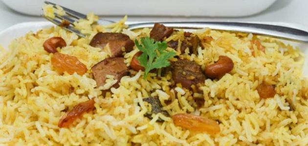 طريقة عمل أرز برياني لحم