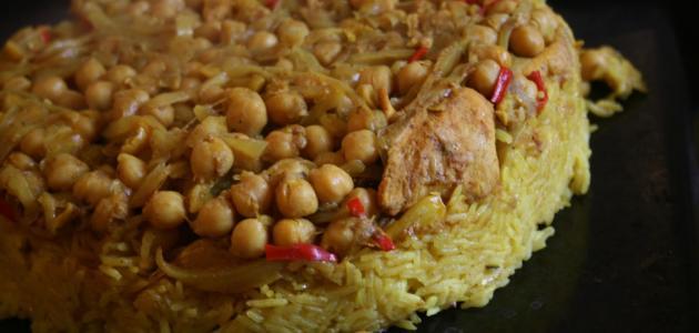 طريقة عمل أرز القدرة الفلسطيني