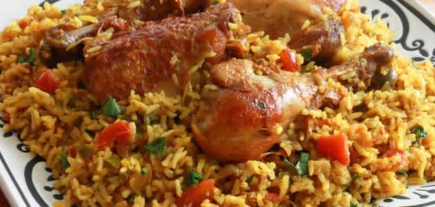 طريقة دجاج مع الأرز