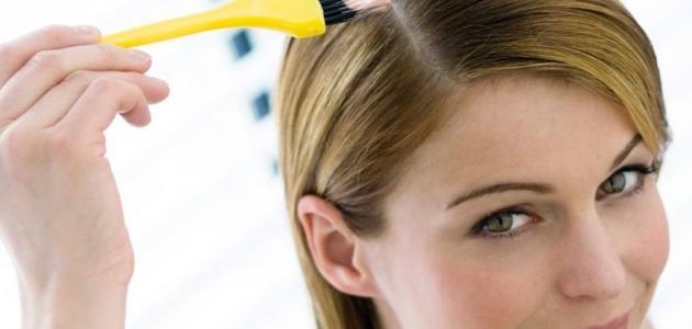 طريقة صبغ الشعر بالبيت