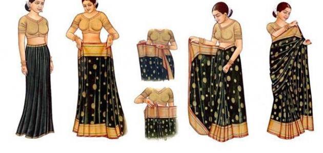 كيف يتم خياطة الساري الهندي