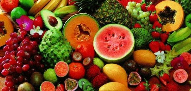 أنواع الفاكهة