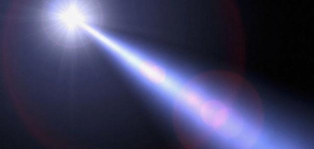 بحث حول الضوء