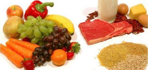 العناصر الغذائية
