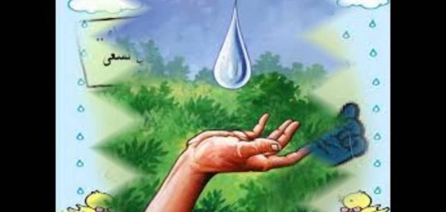 بحث عن ترشيد استهلاك المياه