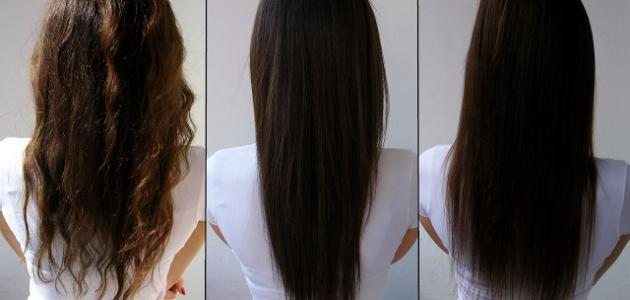 أضرار فرد الشعر بالبروتين