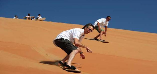 التزلج على الرمال - موضوع