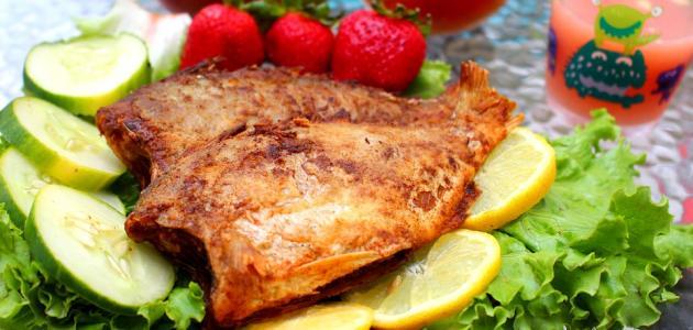 طريقة عمل سمك مقلي