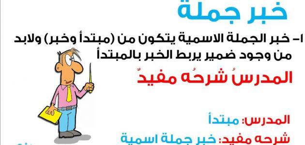 أنواع الخبر في اللغة العربية