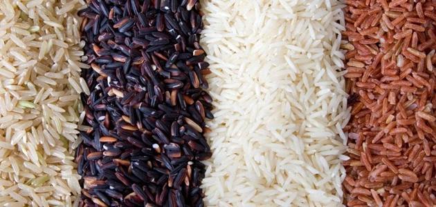 أنواع الأرز المطبوخ