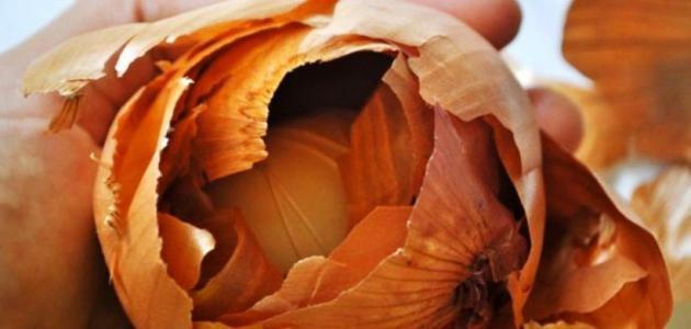 فوائد قشر البصل للشعر