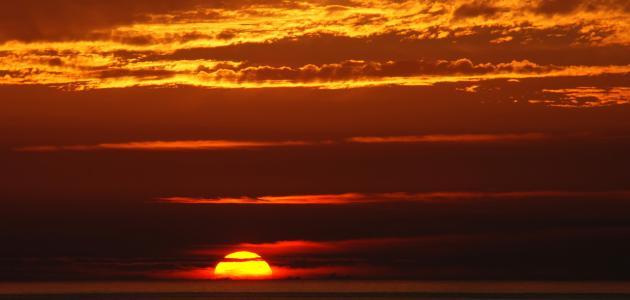 تعبير عن غروب الشمس