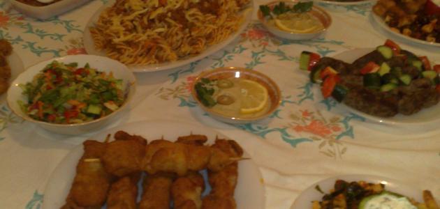 أنواع أكلات رمضان