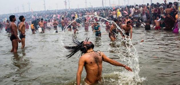 ما اسم النهر المقدس في الهند