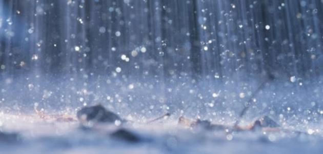 تقرير عن المطر