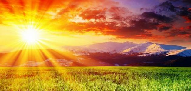 كلمات عن الشمس