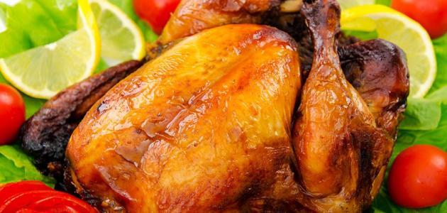 طريقة عمل الدجاج المشوي