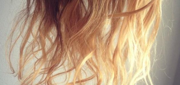 أسباب تقصف الشعر وعلاجه