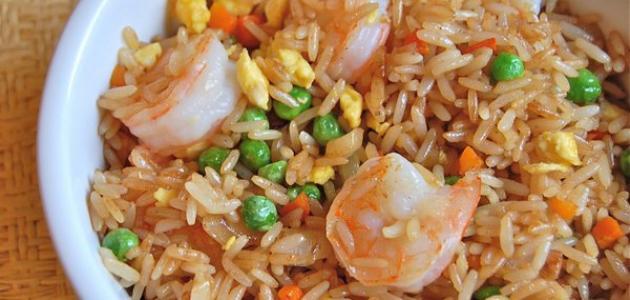 طريقة عمل أرز بالجمبري