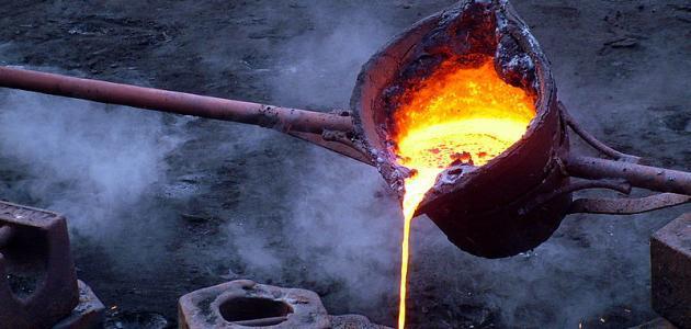 درجة انصهار الحديد