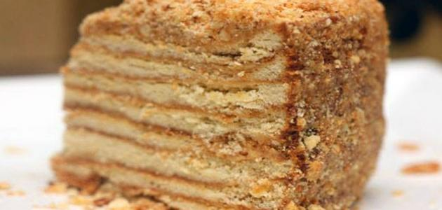 طريقة عمل حلويات باللبن البودرة (كيكة البسكويت)