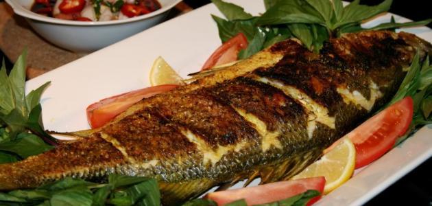 طريقة السمك المشوي بالفرن