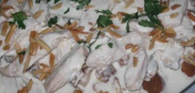 طريقة فتة الدجاج