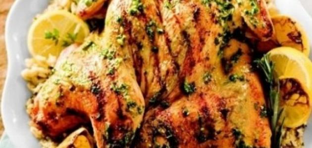 طريقة عمل الدجاج بالزعتر