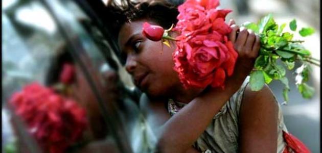 بائعة الورد