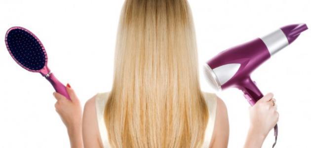 طريقة سشوار الشعر
